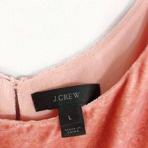 J. Crew Tops - J. Crew | Riff Velvet Tank Top in Copper Rose